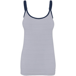 textil Dam Linnen / Ärmlösa T-shirts Bravado 31007 BA FDST Vit