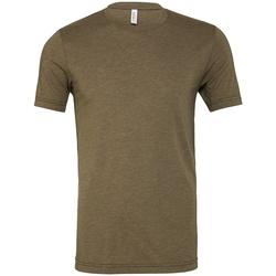 textil T-shirts Bella + Canvas CV3413 Militärt grönt