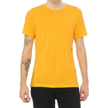 textil T-shirts Bella + Canvas CV3413 Gult guld Triblend