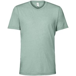textil T-shirts Bella + Canvas CV3413 Dammig blå triblend