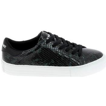 Skor Dam Sneakers No Name Arcade Print Kobra Noir Vert Fonce Svart