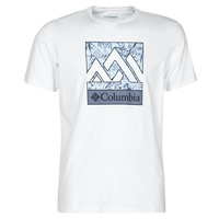textil Herr T-shirts Columbia M RAPID RIDGE GRAPHIC TEE Vit