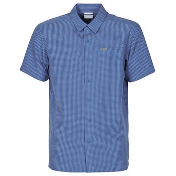 textil Herr Kortärmade skjortor Columbia LAKESIDE TRAIL Blå