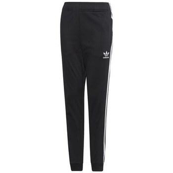 textil Barn Joggingbyxor adidas Originals Junior Superstar Pants Svarta