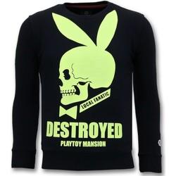 textil Herr Sweatshirts Local Fanatic Lyx Destroyed Playtoy Svart
