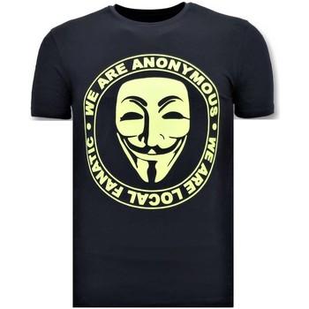 textil Herr T-shirts Local Fanatic Vi Är Anonyma Blå