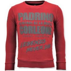 textil Herr Sweatshirts Local Fanatic Tough Padrino Corleone Röd