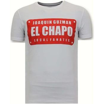 textil Herr T-shirts Local Fanatic Lyx Joaquin El Chapo Guz Vit