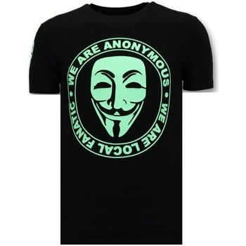 textil Herr T-shirts Local Fanatic We Are Anonymous Svart