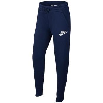 textil Pojkar Joggingbyxor Nike Sportswear Blå