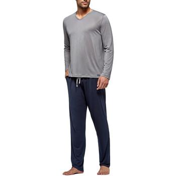 textil Herr Pyjamas/nattlinne Impetus Travel 4593F84 G20 Grå