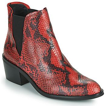 Skor Dam Boots Fericelli NIAOW Svart / Röd