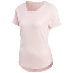 textil Dam T-shirts adidas Originals Run IT Tee 3S W Rosa