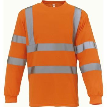 textil Långärmade T-shirts Yoko T-Shirt manches longues  Haute Visibilité orange