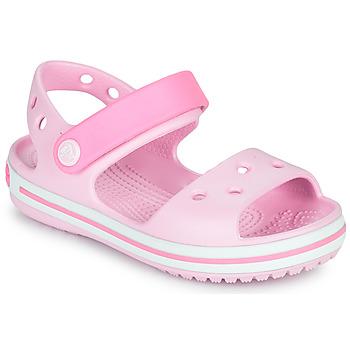 Skor Flickor Sandaler Crocs CROCBAND SANDAL KIDS Rosa