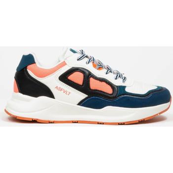 Skor Dam Sneakers Asfvlt Baskets Femme  Concrete blanc/bleu/corail