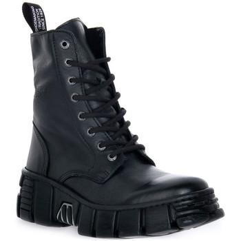Skor Boots New Rock WALL ASA LUXOR NEGRO Nero