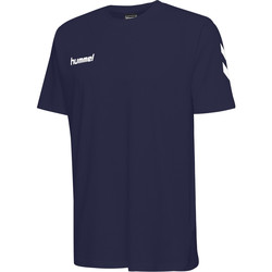 textil Barn T-shirts Hummel T-shirt enfant  hmlGO cotton bleu marine