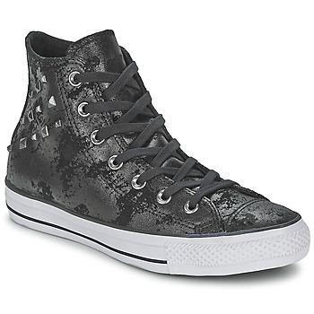Skor Dam Höga sneakers Converse CHUCK TAYLOR ALL STAR HARDWARE Svart / Silverfärgad