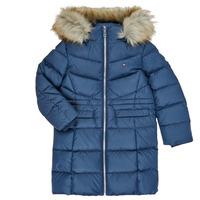 textil Flickor Täckjackor Tommy Hilfiger KG0KG05397-C87-J Marin