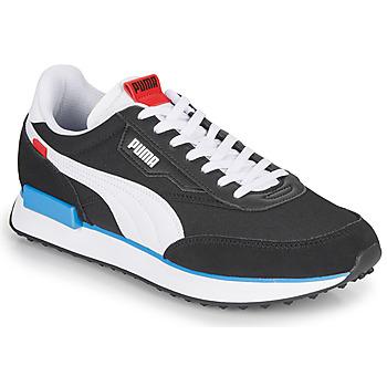 Skor Herr Sneakers Puma FUTURE RIDER PLAY ON Svart / Vit