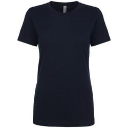 textil Dam T-shirts Next Level NX3900 Marinblått