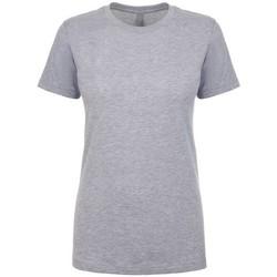 textil Dam T-shirts Next Level NX3900 Grått