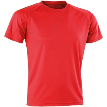 textil Herr T-shirts Spiro SR287 Röd
