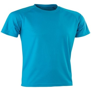 textil Herr T-shirts Spiro SR287 Havsblått