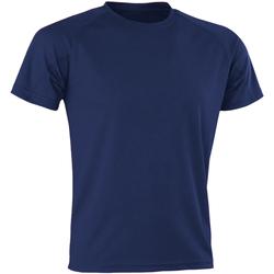textil Herr T-shirts Spiro SR287 Marinblått