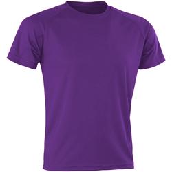 textil Herr T-shirts Spiro SR287 Lila