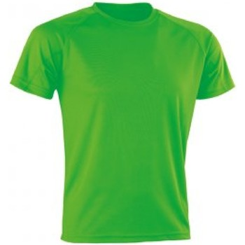 textil Herr T-shirts Spiro SR287 Flo Green