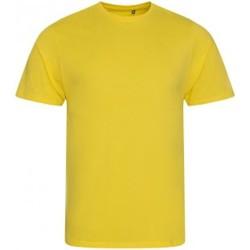 textil Herr T-shirts Ecologie EA001 Solgult