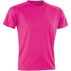 textil Herr T-shirts Spiro SR287 Flo Pink