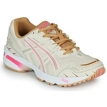 Skor Dam Sneakers Asics 1090 Vit / Rosa / Guldfärgad