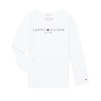 textil Flickor Långärmade T-shirts Tommy Hilfiger KG0KG05247-YBR-J Vit