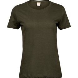 textil Dam T-shirts Tee Jays T8050 Olivgrön