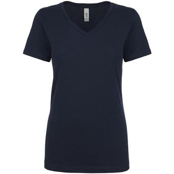textil Dam T-shirts Next Level NX1540 Marinblått