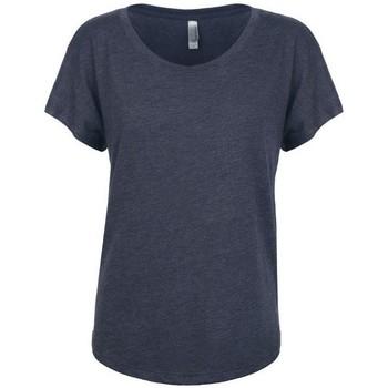 textil Dam T-shirts Next Level NX6760 Vintage marinblått