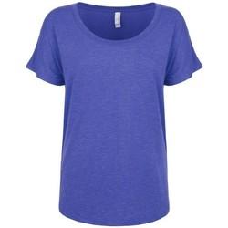 textil Dam T-shirts Next Level NX6760 Vintage kunglig blå