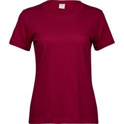 textil Dam T-shirts Tee Jays T8050 Djupt rött