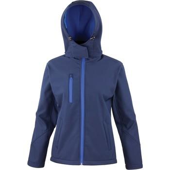textil Dam Sweatjackets Result Veste  Softshell Capuche Femme Tx Performance bleu marine/bleu royal