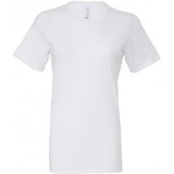 textil Dam T-shirts Bella + Canvas BL6400 Vit