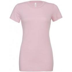textil Dam T-shirts Bella + Canvas BL6400 Rosa