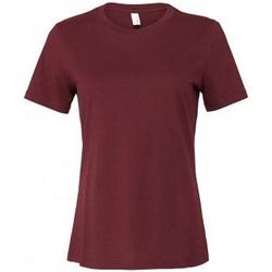 textil Dam T-shirts Bella + Canvas BL6400 Maroon