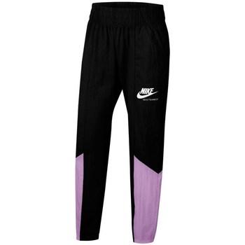 textil Flickor Joggingbyxor Nike Sportswear Heritage Svarta, Lila
