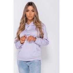 textil Dam Sweatshirts Parisian Stora Dragsko Munkjacka Kvinnor Lila Violett