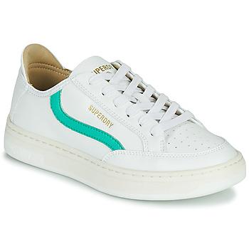 Skor Dam Sneakers Superdry BASKET LUX LOW TRAINER Vit