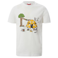 textil Pojkar T-shirts The North Face GRAPHIC TEE Vit