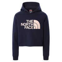 textil Flickor Sweatshirts The North Face DREW PEAK CROPPED HOODIE Marin
